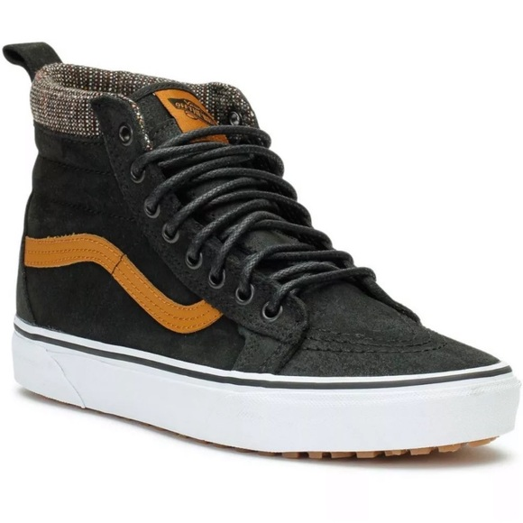 Vans sk8 hi MTE black tweed winter suede shoes new 3e39b3c1f30